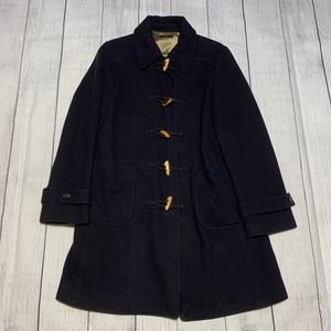 J. Crew Wool Blend Wood Toggle Button Peacoat M
